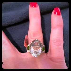 🎉Beautiful Green Amethyst Ring in Sterling Silver